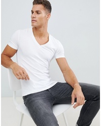 89938c40 Men's White V-neck T-shirts from Asos | Men's Fashion | Lookastic.com