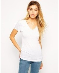 Asos T Shirt With Short Sleeve V Neck With Clean Finish