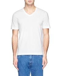 Canali V Neck Cotton T Shirt