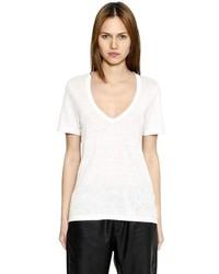 Etoile Isabel Marant V Neck Linen Jersey T Shirt