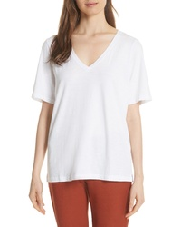 Eileen Fisher V Neck Organic Cotton Tee
