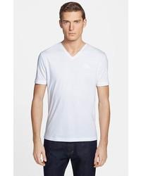Versace Medusa V Neck T Shirt White Small