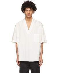 Ambush White Cotton V Neck Short Sleeve Pullover