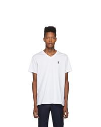 Burberry White Monogram Marlet V Neck T Shirt