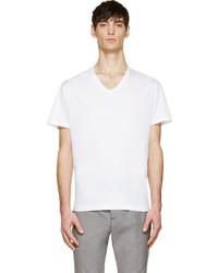 Acne Studios White V Neck Enis T Shirt