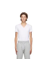 Ermenegildo Zegna White V Neck Seamless T Shirt