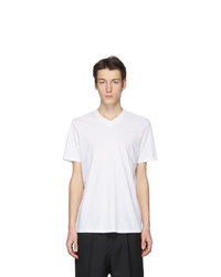 Jil Sander White V Neck T Shirt
