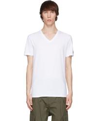 Balmain White V Neck T Shirt