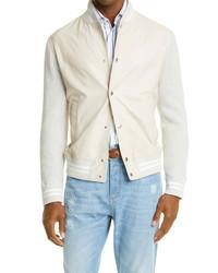 Brunello Cucinelli Leather Knit Jacket