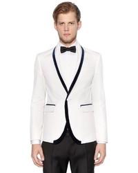 DSQUARED2 Cotton Silk Tuxedo Jacket W Velvet