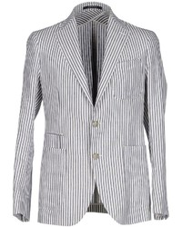 White Vertical Striped Blazer