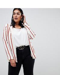 New Look Plus New Look Curve Stripe Blazer