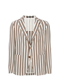 Tagliatore Unstructured Striped Jacket