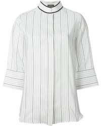 Salvatore ferragamo striped blouse medium 639376