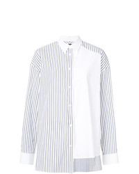 Juun.J Striped Asymmetric Shirt