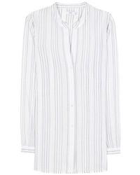 Vince Striped Cotton Blouse