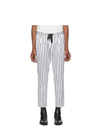 Dolce and Gabbana White And Black Striped Trousers