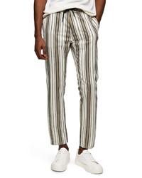 Topman Whyatt Stripe Crop Trousers