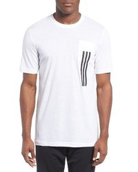 adidas 3 Stripes Pocket T Shirt