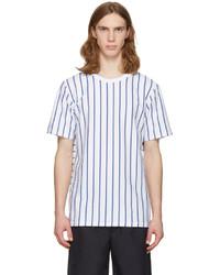 rag & bone Rag And Bone White Disrupted Stripe T Shirt