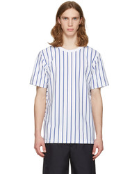 rag & bone White Disrupted Stripe T Shirt