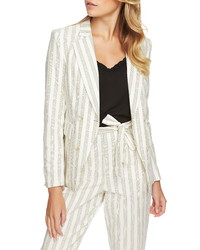 1 STATE Duet Modern Stripe Double Breasted Jacket