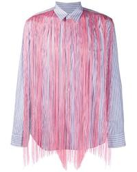 Comme Des Garcons Homme Plus Comme Des Garons Homme Plus Fringed Striped Button Down Shirt