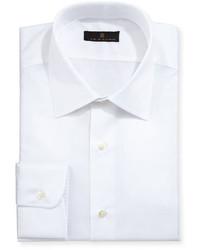 Gold label diagonal textured dress shirt white medium 1149305