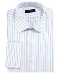 Gold label striped dress shirt whiteblue medium 1149303