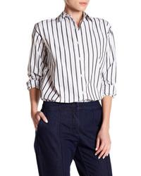 Lands End Canvas Striped Boyfriend Shirt