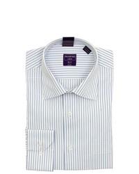Modena White Striped Cotton Dress Shirt