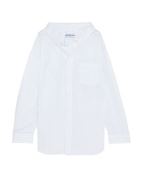 Balenciaga Oversized Striped Cotton Jacquard Shirt