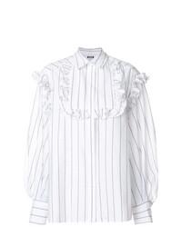 MSGM Ruffle Striped Shirt