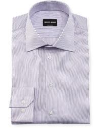 Giorgio Armani Shadow Stripe Long Sleeve Dress Shirt