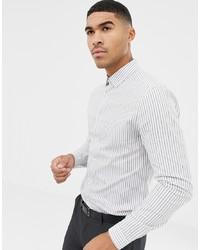 ASOS DESIGN Skinny Smart Stripe Work Shirt