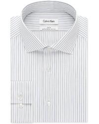 f828c0d499 Men's Vertical Striped Dress Shirts by Calvin Klein | Men's Fashion ...