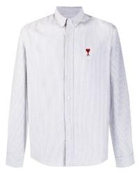 Ami Paris Striped Button Down Shirt