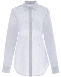 Tome Striped Cotton Open Tie Back Shirt