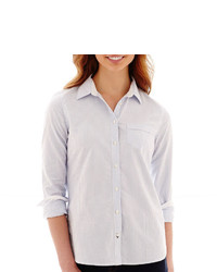 jcpenney Stylus Stylus Classic Fit Button Front Oxford Shirt
