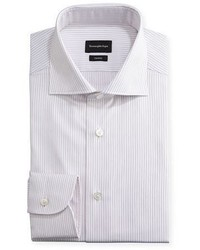Trofeo striped dress shirt pinkwhite medium 3678476