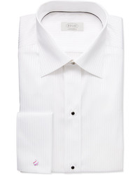 White on white striped dress shirt medium 163157