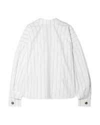 A.W.A.K.E. Reversible Oversized Pinstriped Cotton Poplin Shirt
