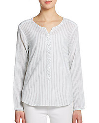 Vandera striped cotton blouse medium 273139