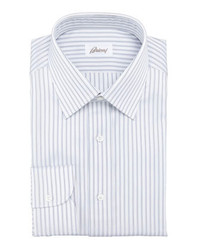 Brioni Striped Dress Shirt Navywhite