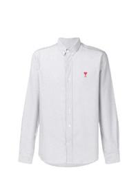 AMI Alexandre Mattiussi Button Down Shirt Chest Embroidery