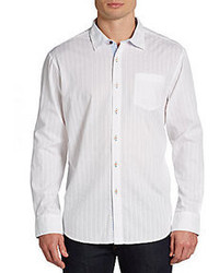 Casanova tona dobby striped sportshirt medium 64622
