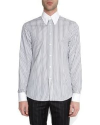 Alexander McQueen Contrast Collar And Cuffs Striped Shirt