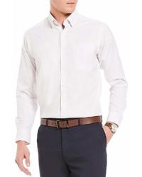 Hart Schaffner Marx Dobby Stripe Pocket Long Sleeve Sportshirt