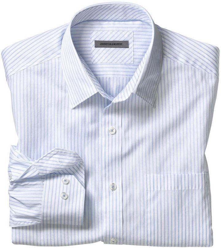 Johnston Murphy Tailored Fit Fine Stripe Shirt Where