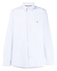 Tommy Hilfiger Logo Embroidered Striped Shirt